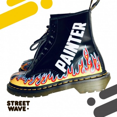 Ботинки Dr. Martens // Flaming